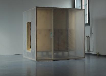 CUBE 2017 1,5m x 1,5m, wood, plastic, foam, plastic