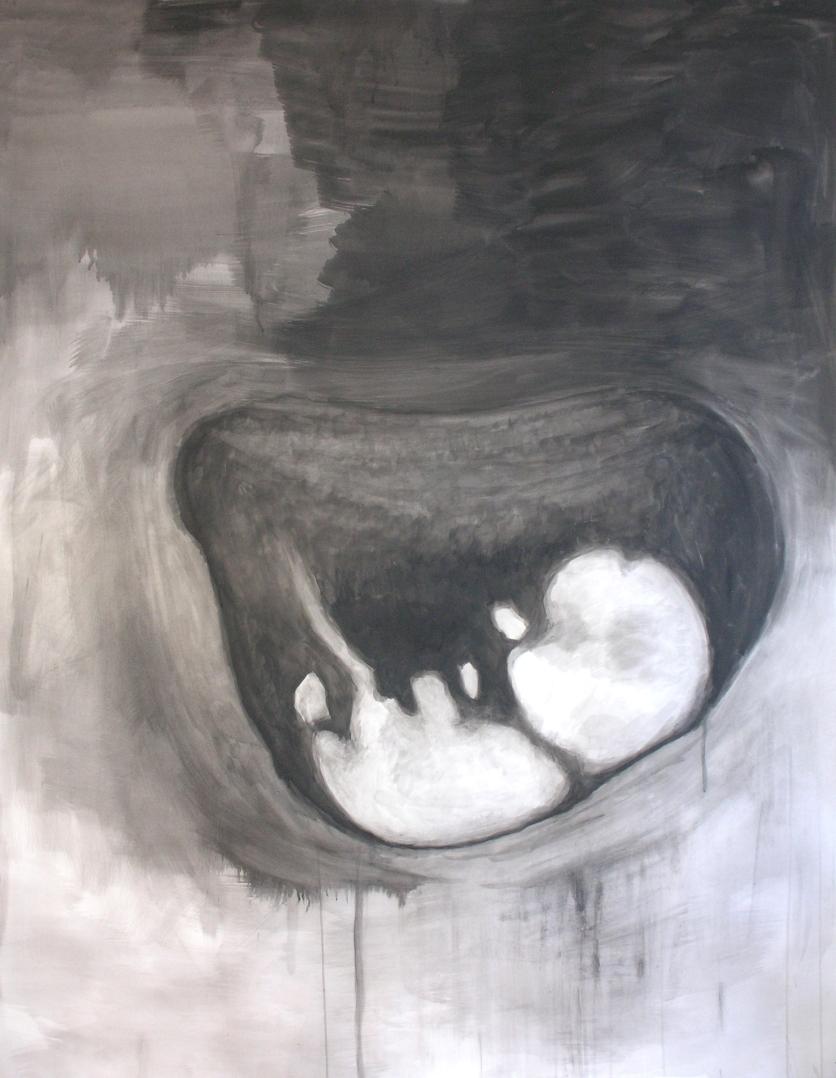 Nasal bone 2010 145 x 175 cm, watercolour on paper