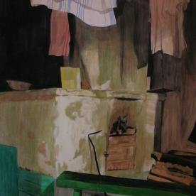 The best place- uuni 2010 145 x 180 cm, gouache on paper